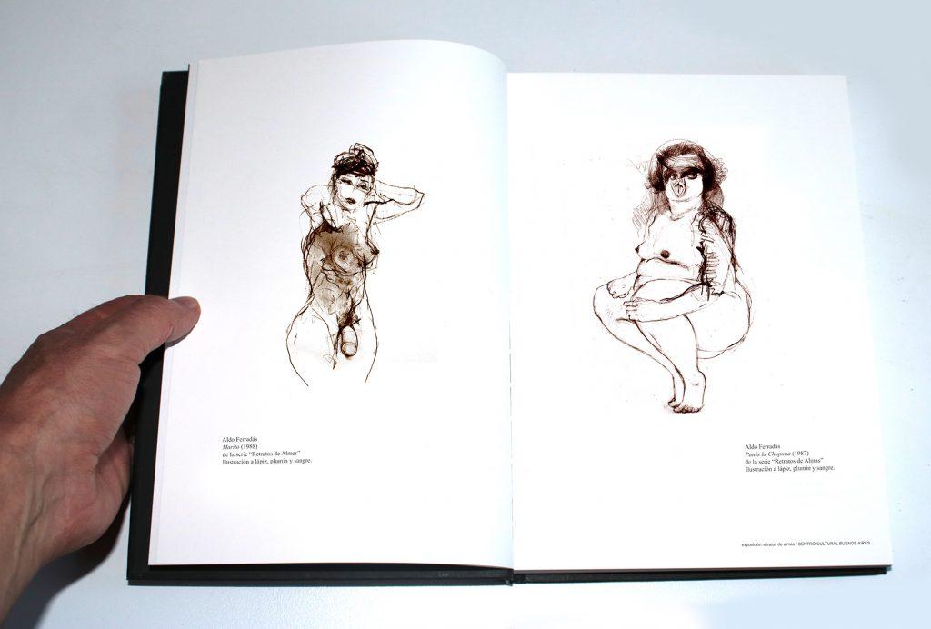 """Catálogo de la muestra ·Retratos de almas"""" por Aldo Ferradás en el Centro Cultural Recoleta"""